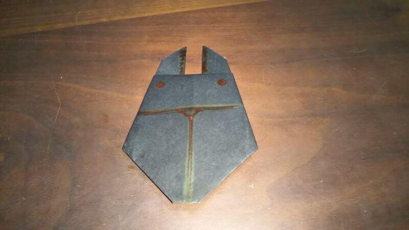 クワガタムシ折り紙の簡単な折り方6