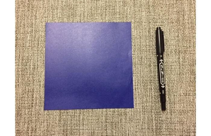 折り紙「立体パンジー」の折り方【材料】