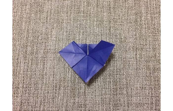 折り紙「立体パンジー」の折り方10