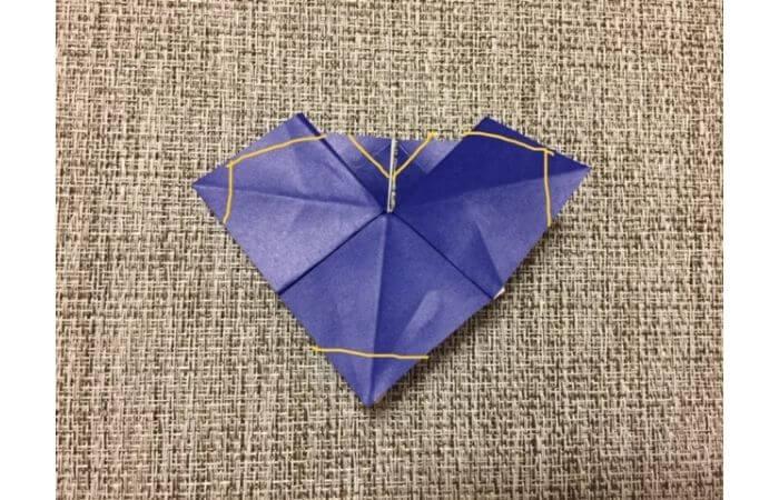 折り紙「立体パンジー」の折り方11