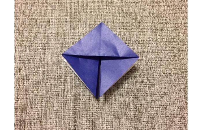 折り紙「立体パンジー」の折り方5