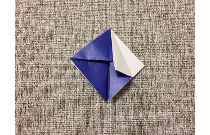 折り紙「立体パンジー」の折り方6