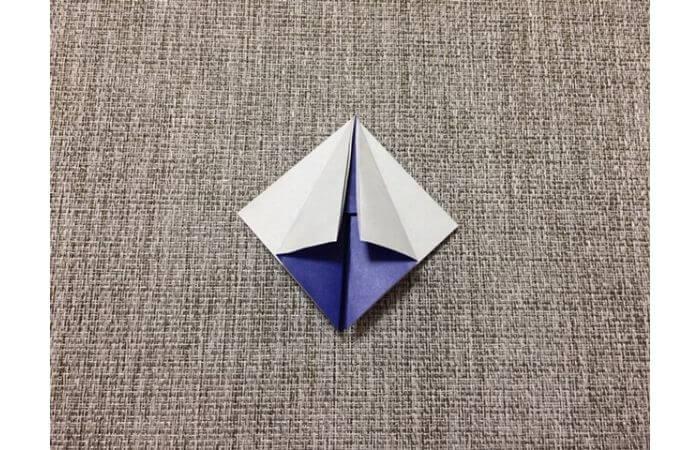 折り紙「立体パンジー」の折り方7