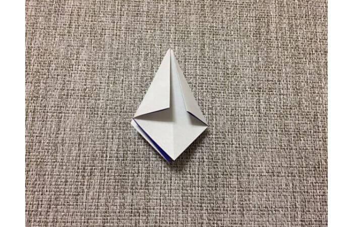 折り紙「立体パンジー」の折り方8