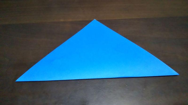 平面パラソル折り紙の簡単な作り方1