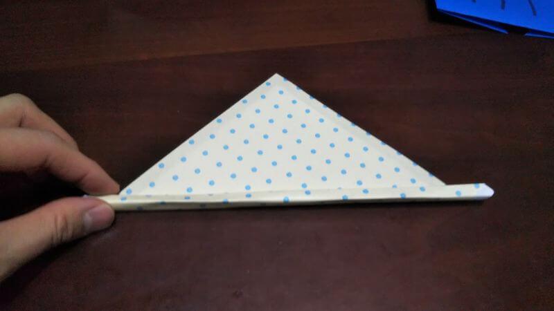 平面パラソル折り紙の簡単な作り方5
