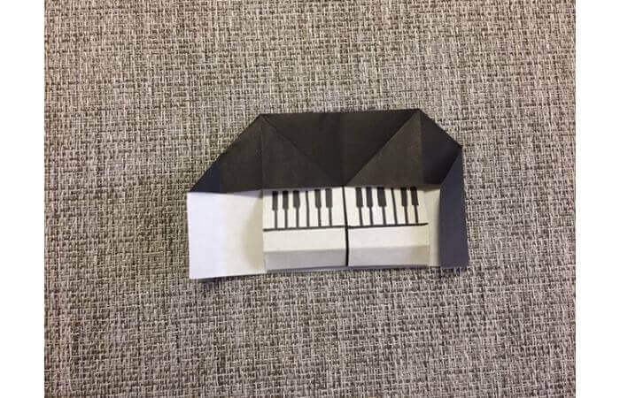 折り紙:立体ミニチュアピアノの作り方【簡単な折り方】11