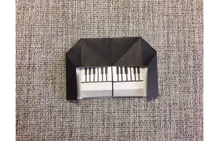 折り紙:立体ミニチュアピアノの作り方【簡単な折り方】12