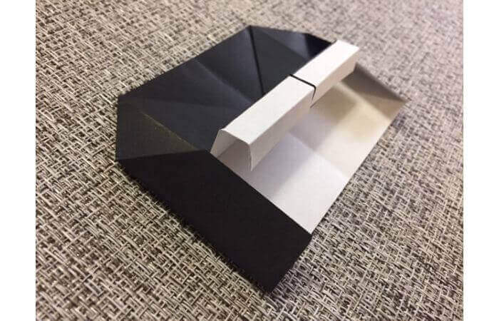 折り紙:立体ミニチュアピアノの作り方【簡単な折り方】13