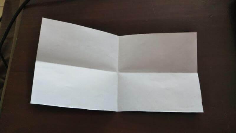 折り紙「ウサギのしおり」の作り方2