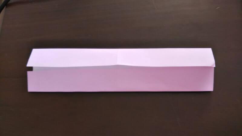 折り紙「ウサギのしおり」の作り方3