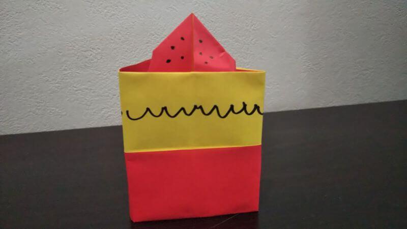 立体イチゴショートケーキの折り方10