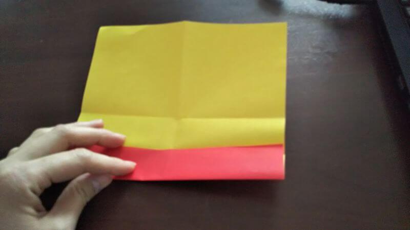 立体イチゴショートケーキの折り方2