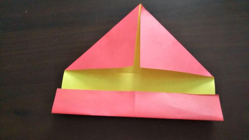 立体イチゴショートケーキの折り方3