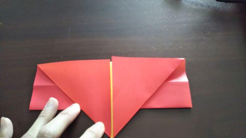 立体イチゴショートケーキの折り方4
