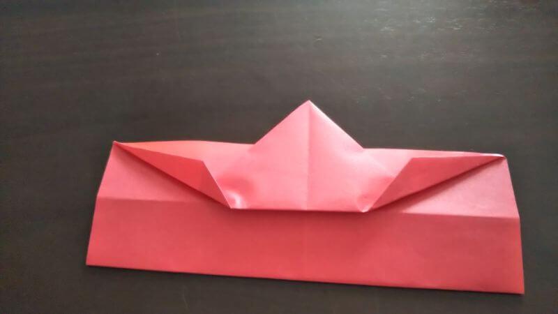 立体イチゴショートケーキの折り方6