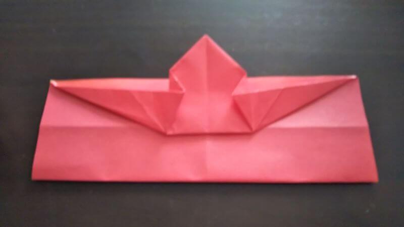 立体イチゴショートケーキの折り方7