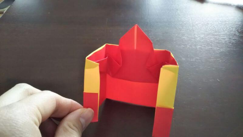 立体イチゴショートケーキの折り方8