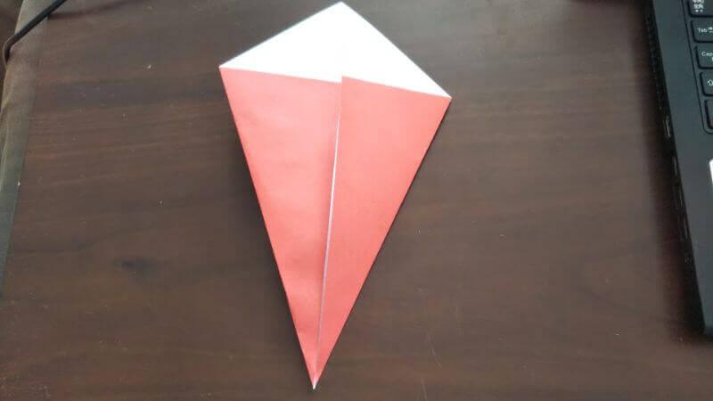 ソフトクリーム折り紙の簡単な折り方2
