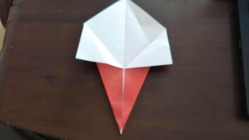 ソフトクリーム折り紙の簡単な折り方3