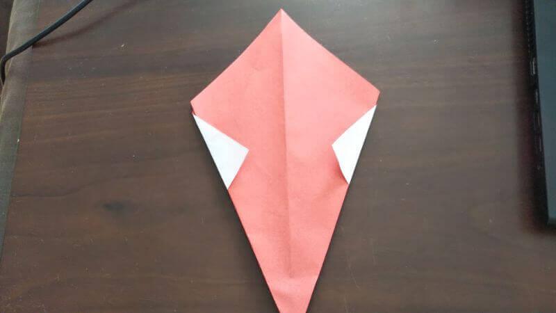 ソフトクリーム折り紙の簡単な折り方4