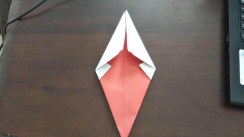 ソフトクリーム折り紙の簡単な折り方5