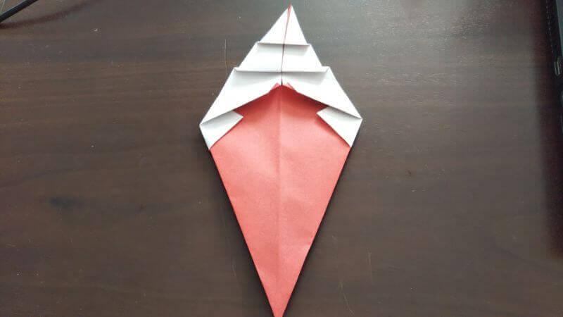 ソフトクリーム折り紙の簡単な折り方6