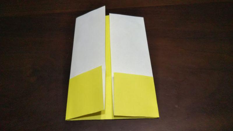 折り紙「三角ヨット」の折り方2