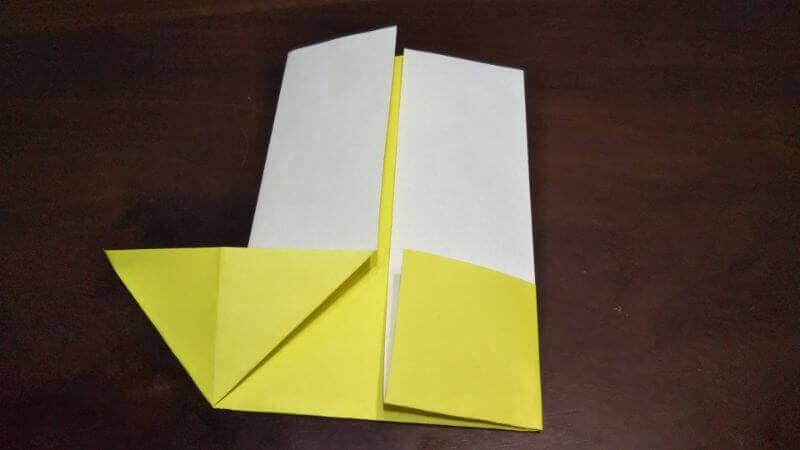 折り紙「三角ヨット」の折り方3