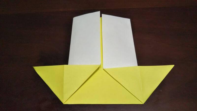 折り紙「三角ヨット」の折り方4