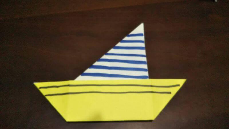 折り紙「三角ヨット」の折り方6