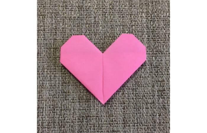 幼児でも簡単にできるハート折り紙の折り方10