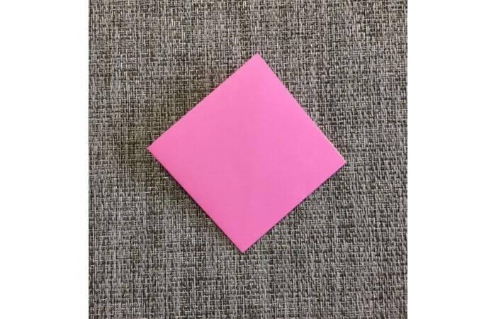 幼児でも簡単にできるハート折り紙の折り方5