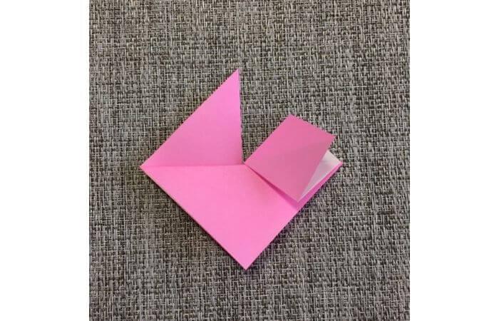 幼児でも簡単にできるハート折り紙の折り方7