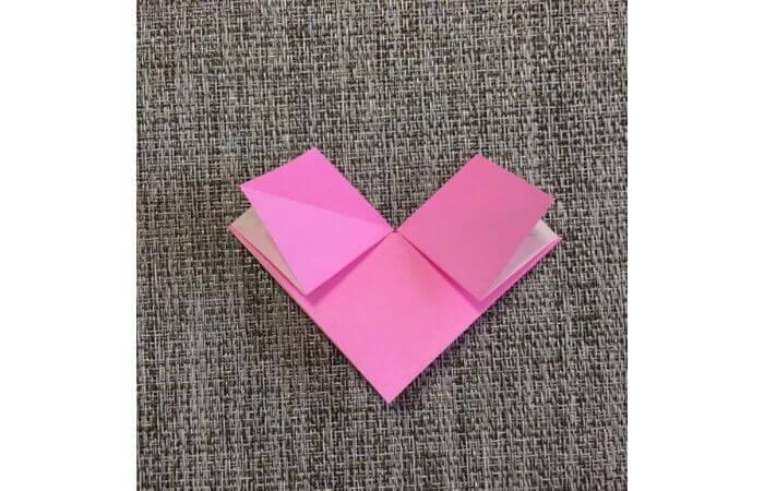 幼児でも簡単にできるハート折り紙の折り方8