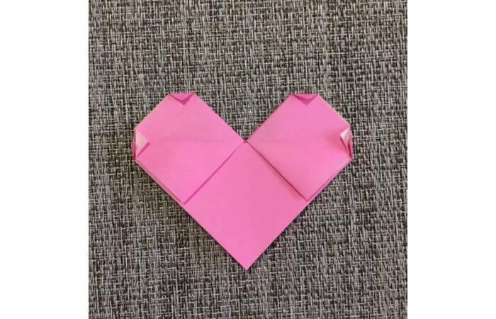 幼児でも簡単にできるハート折り紙の折り方9