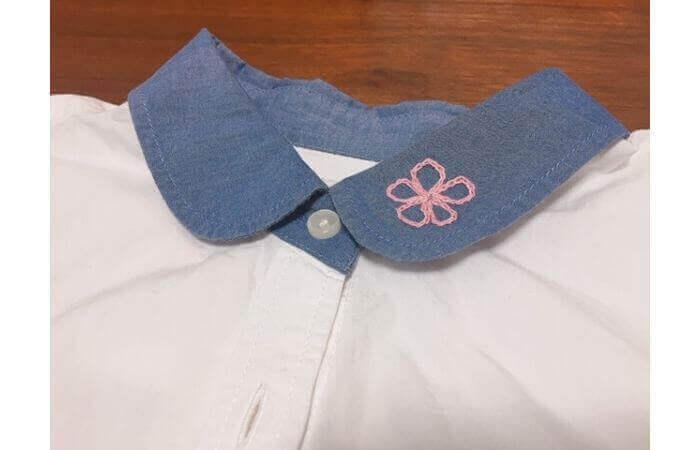 チェーンステッチ刺繍の縫い方【アレンジ2】