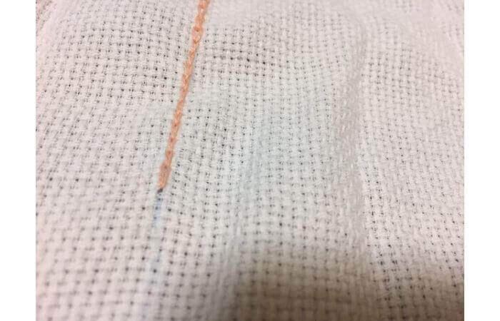 チェーンステッチ刺繍の縫い方【コツ1】