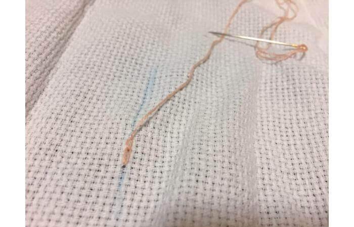 チェーンステッチ刺繍の縫い方【簡単なやり方6】