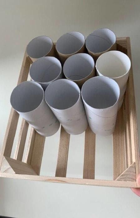 トイレットペーパーの芯で作る「収納」の作り方4