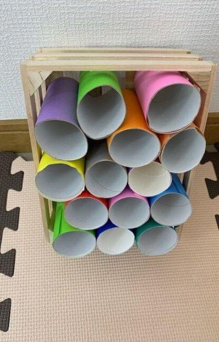 トイレットペーパーの芯で作る「収納」の作り方2