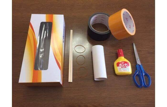 簡単工作:ティッシュ箱ギターの作り方【材料】