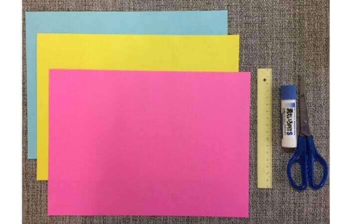 画用紙工作:手作り箱の材料