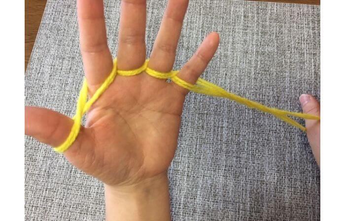 簡単あやとり手品「指ぬき」のやり方10