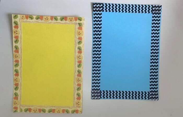【簡単】画用紙メッセージカードの作り方1