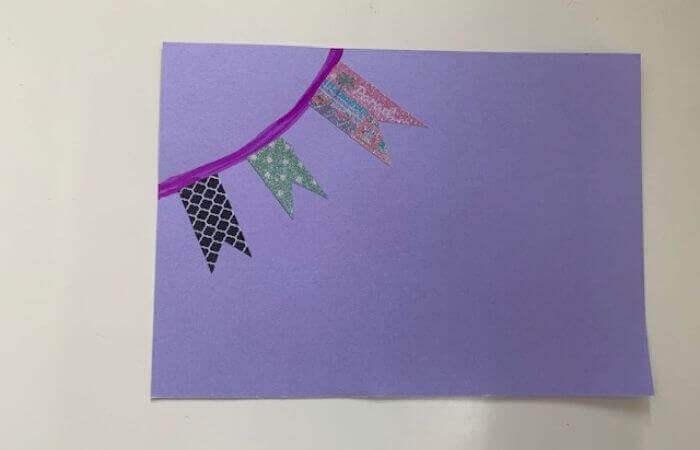 【簡単】画用紙メッセージカードの作り方4