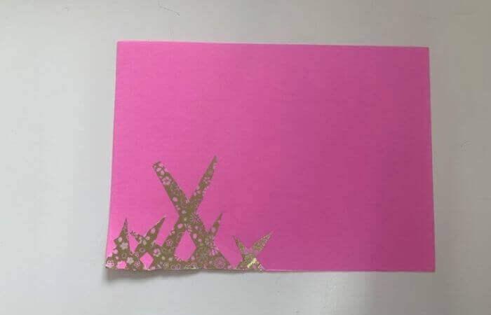 【簡単】画用紙メッセージカードの作り方7