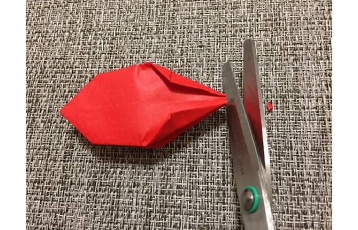 折り紙「立体的なチューリップ」の折り方17