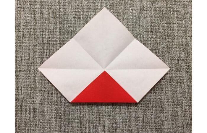 折り紙「立体的なチューリップ」の折り方5