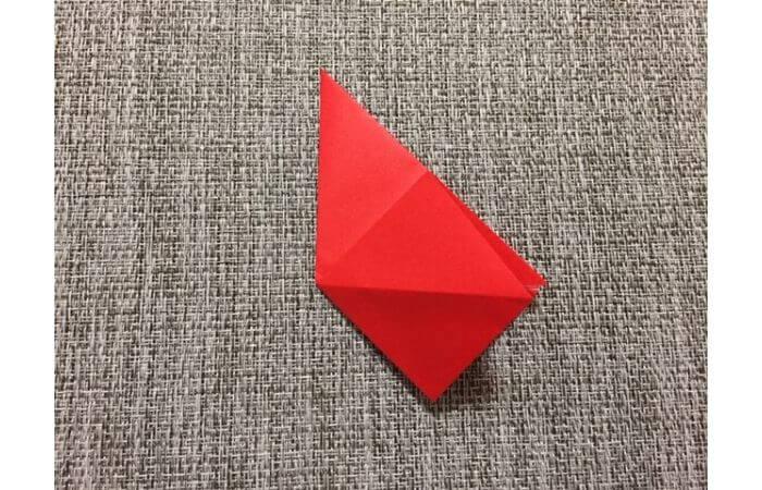 折り紙「立体的なチューリップ」の折り方9